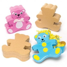 Set 4 cutiute din carton de decorat Ursuleti - Baker Ross