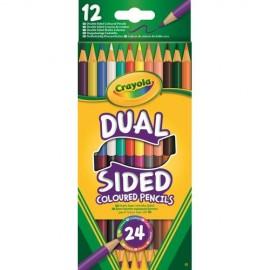 Set 12 Creioane in 2 Culori