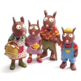 Familia veveritelor - Set de papusele Djeco
