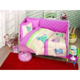 Set dormitor bebe Kristal Sevimli Roz