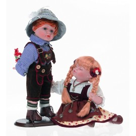 Papusi de portelan - Baietel si fetita