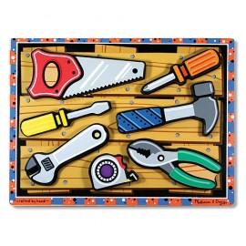 Melissa&Doug - Puzzle lemn in relief Uneltele