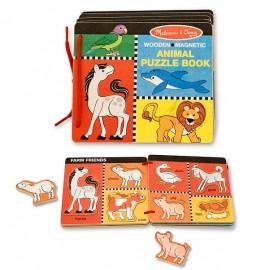 Melissa&Doug - Jucarie - Cartea din lemn cu animale magnetice