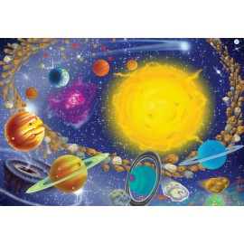 Melissa&Doug - Puzzle Sistemul Solar 100 pcs