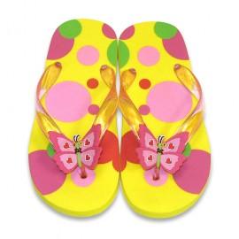 Melissa&Doug - Papuci de baie / plaja copii Bella Butterfly, mas 29-31
