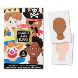 Melissa&Doug - Creaza portrete - Bloc de desen cu portrete predesenate