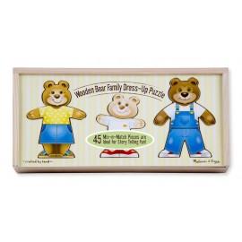Melissa & Doug - Imbraca familia de ursuleti