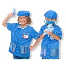 Melissa & Doug - Costum carnaval copii Medic Veterinar