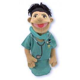 Melissa&Doug - Papusa de mana Doctor chirurg