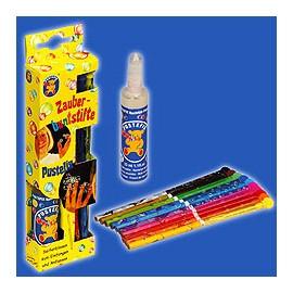 Pustefix - Set 10 creioane cu rezervor pentru solutie de baloane