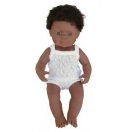 Miniland - Baby afroamerican (baiat) 38 cm