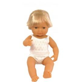 Miniland - Baby european (baiat) Papusa 38 cm