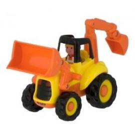 Miniland - Tractor excavator cu sunete si lumini