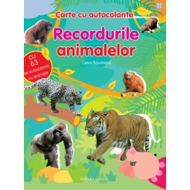 Recordurile animalelor - Carte cu autocolante