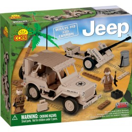 Cobi - Small Army - JEEP Willys MB cu tun