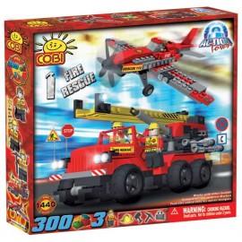 Cobi - Fire Brigade - Masina si Avion Pompieri