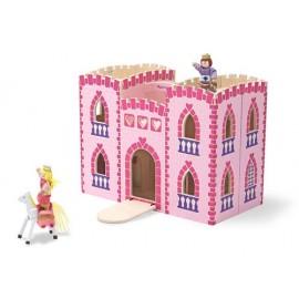 Melissa & Doug - Castel din lemn pliabil