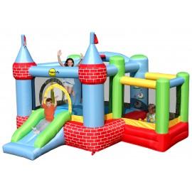 Happy Hop - Spatiu de joaca gonflabil pentru sarit - Castel cu loc de joaca cu bile