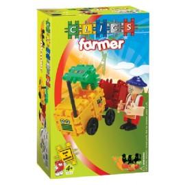 Clics Set De Constructie Fermier Si Tractor