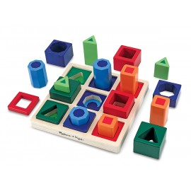 Melissa & Doug - Set Incastre Forme De Sortat Pe Tabla imagine