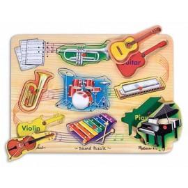 Melissa & Doug - Puzzle sonor Instrumente muzicale natur