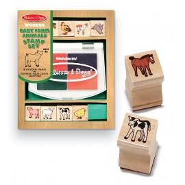 Melissa & Doug - Set de stampile Pui de animale domestice