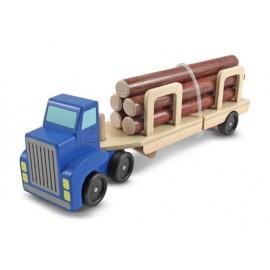 Melissa & Doug - Camion Transportor de Busteni