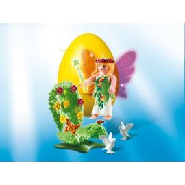 Playmobil Easter Eggs - Zana cu tron din flori