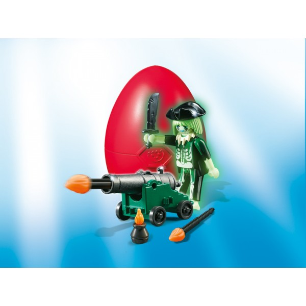 Playmobil Easter Eggs - Pirat fantoma cu tun
