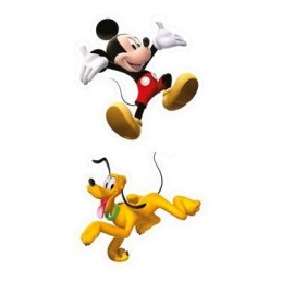 Set 2 mini-decoratiuni perete din spuma Mickey