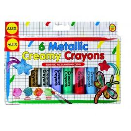 Alex Toys - Creioane moi in culori metalice cu pensula
