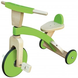Tricicleta din lemn Verde Classic