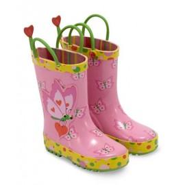 Melissa & Doug - Cizme de ploaie pentru copii Bella Butterfly, marime 29-31