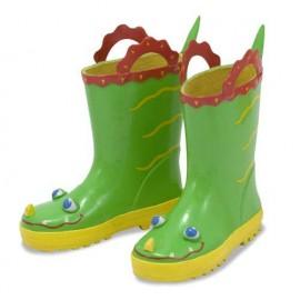 Melissa & Doug - Cizme de ploaie pentru copii Augie Alligator, marime 21-23