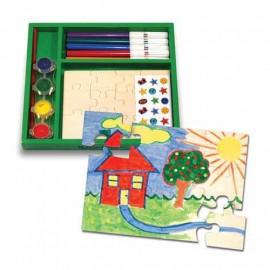 Melissa & Doug - Creaza propriul tau joc puzzle