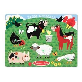 Melissa & Doug - Puzzle lemn Animale la Ferma
