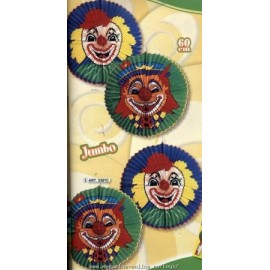 Decor petrecere Lampion GIGANTIC cu imagine clown 60cm