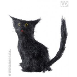 Decor Halloween - Pisica neagra 12 cm