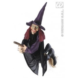 Decor Halloween - Vrajitoare vorbitoare cu matura