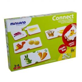 Miniland - Joc de asociere Animalele si hrana lor